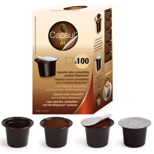 100x empty capsul 39 in nespresso compatible capsule pods for. Black Bedroom Furniture Sets. Home Design Ideas