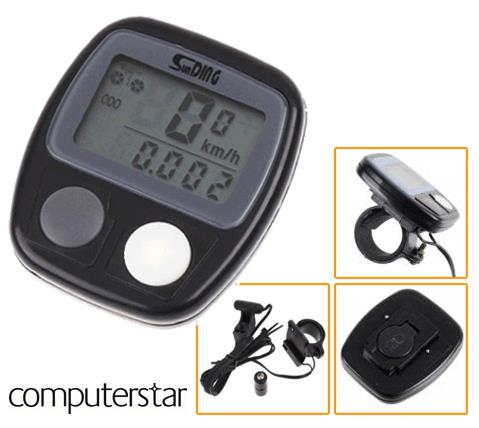 Bike Cycle LCD Digital Waterproof Speedometer Computer inc Battery Enlarged Preview