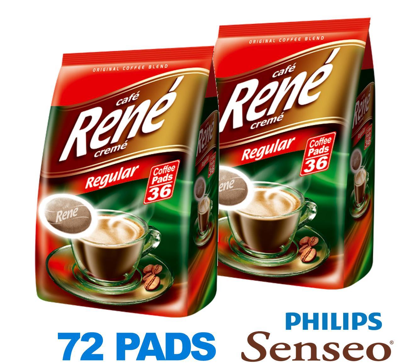 philips senseo 72 x cafe rene crem regular roast coffee. Black Bedroom Furniture Sets. Home Design Ideas