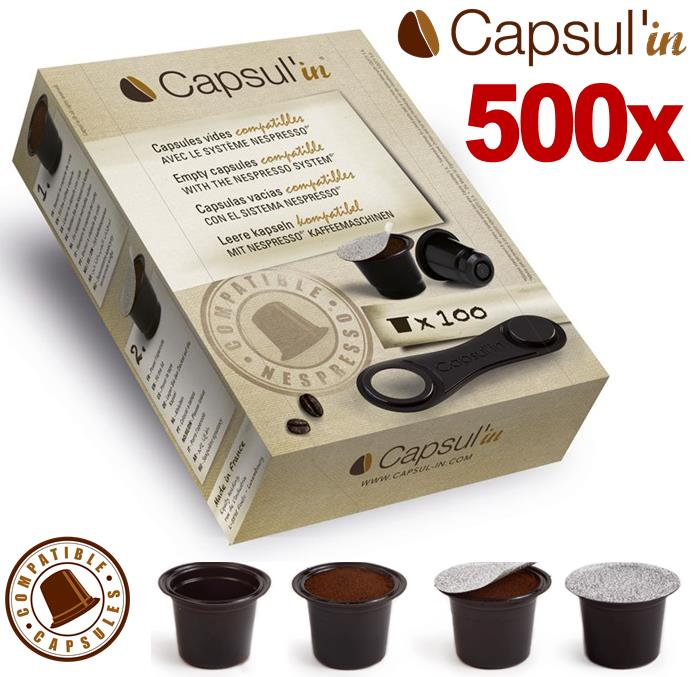 500 empty nespresso compatible capsule pods for u pure. Black Bedroom Furniture Sets. Home Design Ideas