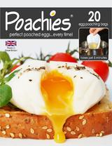 POACHIES - 20 BAGS - Perfect Poached Eggs Every Time In Just 5 Minutes