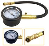 Tyre Low Pressure Gauge with Flexible Hose & Air Release Valve Meter Reader