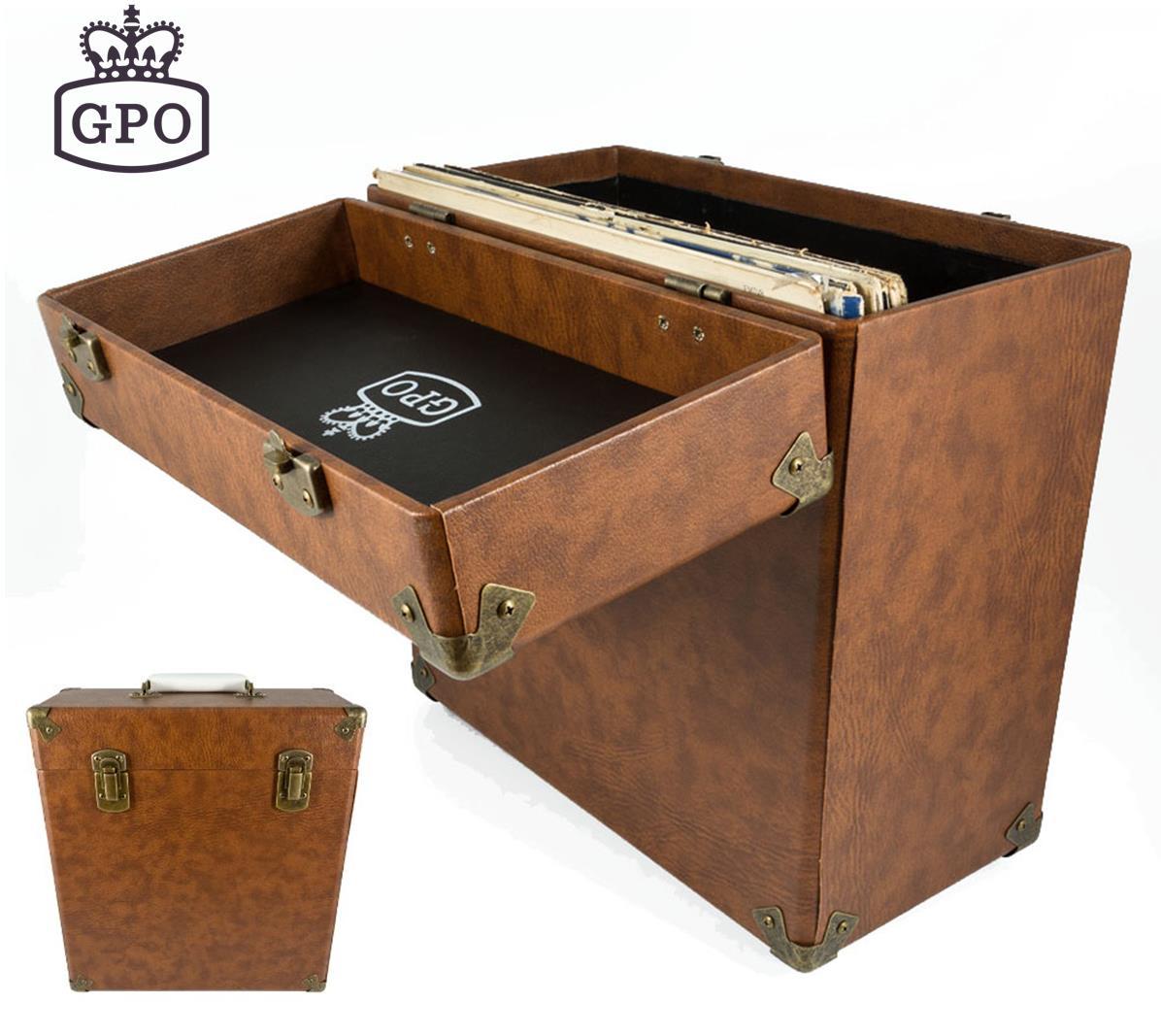 Gpo Vintage Style Record Storage Box Lp Album 12 Quot Vinyl