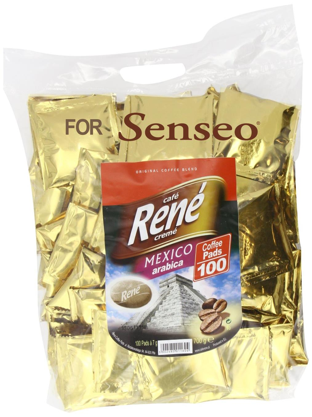 philips senseo 100 x caf rene cr me mexico coffee pads. Black Bedroom Furniture Sets. Home Design Ideas