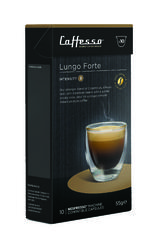 10 x Caffesso Nespresso Compatible Coffee Capsules / Pods - Lungo Forte  Blend