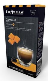 10 x Caffesso Nespresso Compatible Coffee Capsules / Pods - CARAMEL Blend