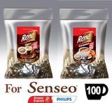 Philips Senseo Café Rene Coffee 50x Chocolate & 50x Caramel  = 100 x Pads Bags