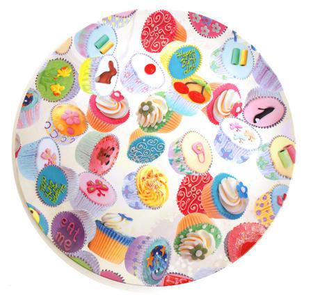 Cupcakes - Large 36cm Diameter Platter / Tray / Serving Plate