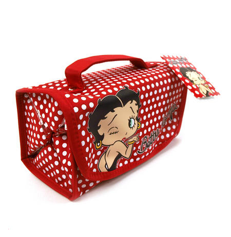 Betty Boop Polkadot Cosmetic Wrap Case
