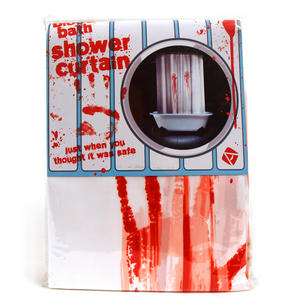 Psycho Shower Curtain With Blood Thumbnail 2