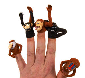 APE Finger Puppets 5 FIGURE SET - FISTFUL OF APES Preview