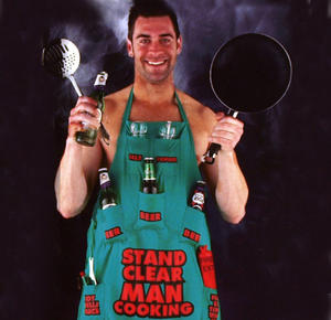 Stand Clear Man Cooking Apron Thumbnail 2