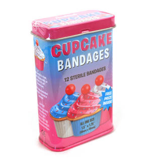Cupcake Plasters - Pink Tin - First Aid In A Tin