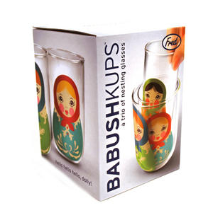 Babushkups - Matryoshka Nesting Glasses Set Thumbnail 1