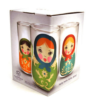 Babushkups - Matryoshka Nesting Glasses Set Thumbnail 3