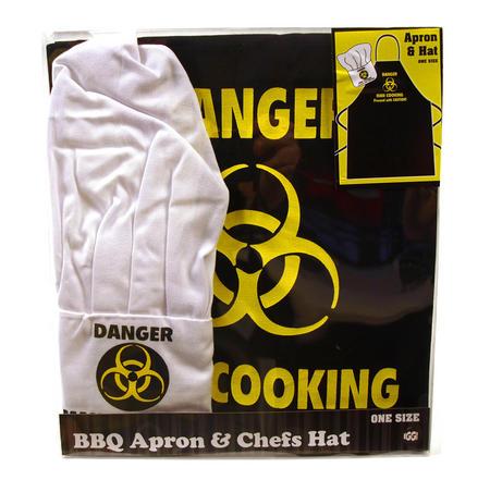 Danger Man Cooking Apron & Chef Hat Set