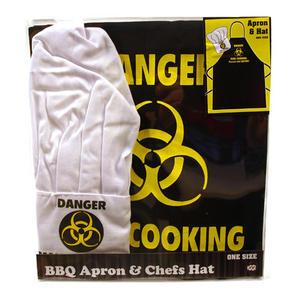 Danger Man Cooking Apron & Chef Hat Set Thumbnail 1