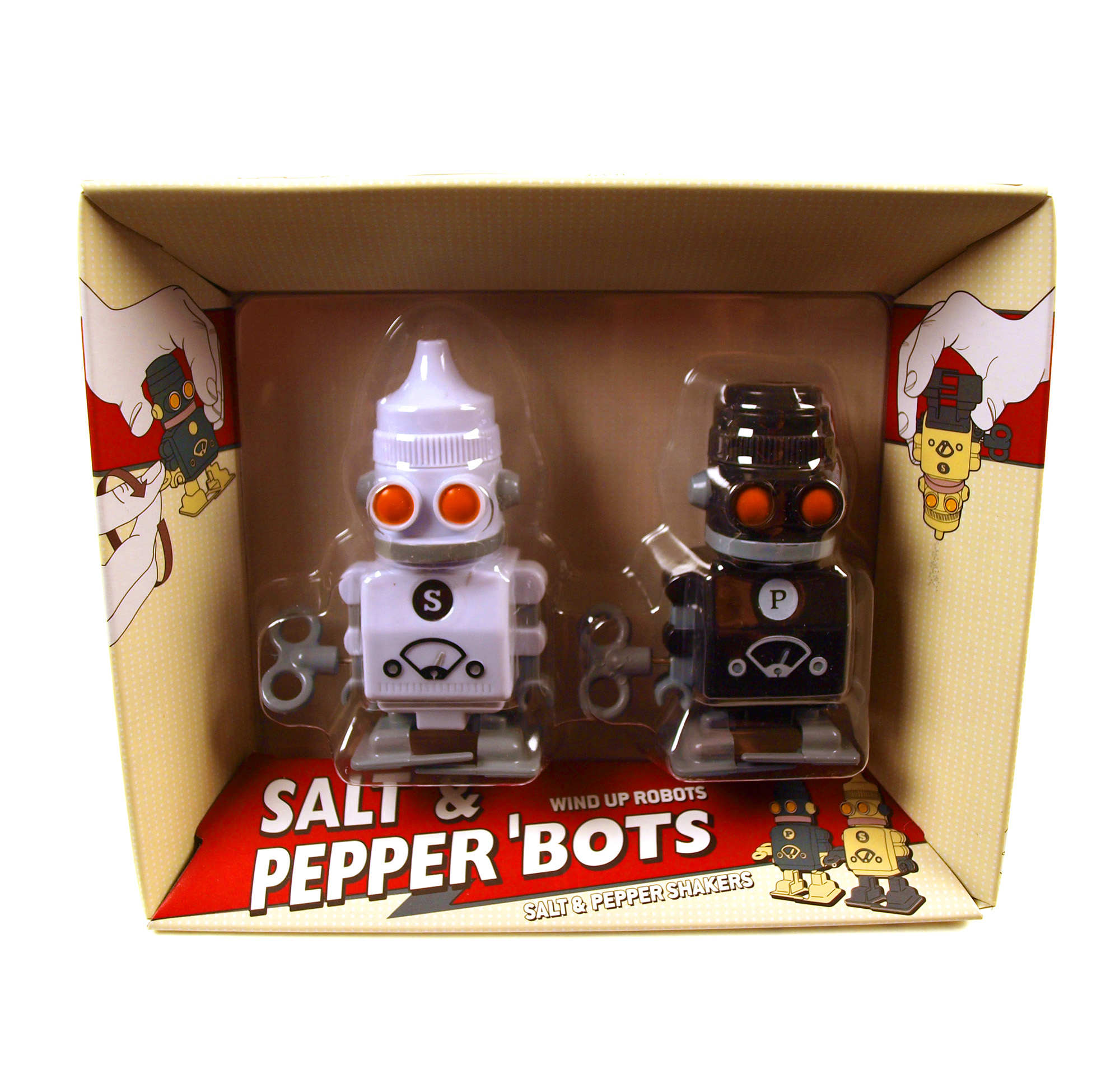 Salt pepper robots pink cat shop Salt and pepper robots