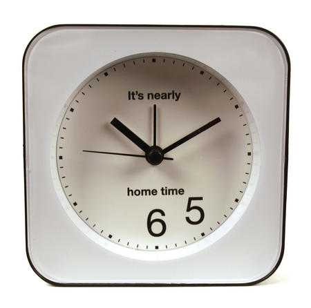 Optimistic Office Clock  'It's Always Home Time'