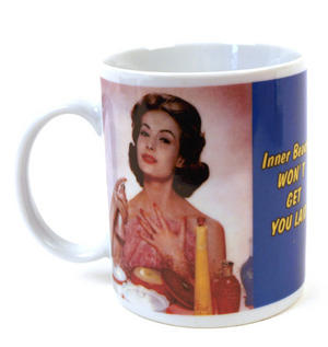 Inner Beauty Won't Get You Laid -Retro Mug Thumbnail 1