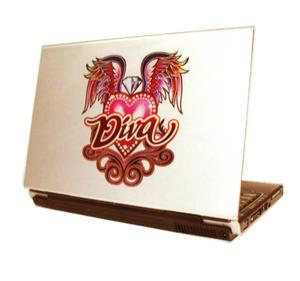 Laptop Notebook Tattoo Sticker - Diva Winged Heart Thumbnail 1