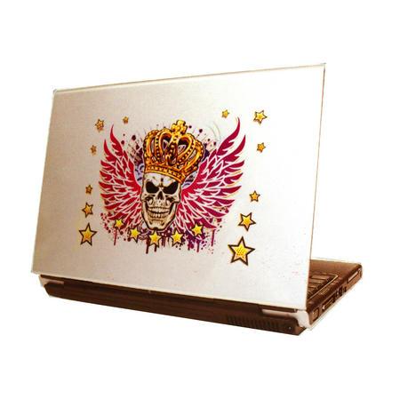 Laptop Tattoo - Winged Skull King