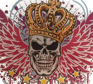 Laptop Tattoo - Winged Skull King Thumbnail 2