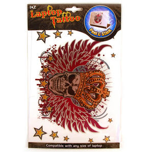 Laptop Tattoo - Winged Skull King Thumbnail 3