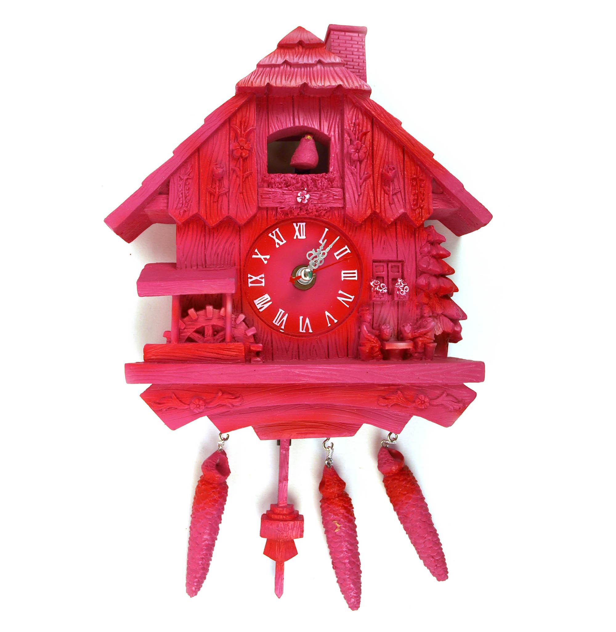 Pink cuckoo clock ebay - Funky cuckoo clock ...