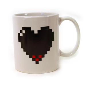 Pixel Heart Heat Change Morph Mug Thumbnail 3