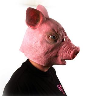 Creepy Pig - Lifesize Head Mask Thumbnail 3