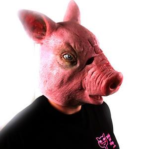 Creepy Pig - Lifesize Head Mask Thumbnail 4