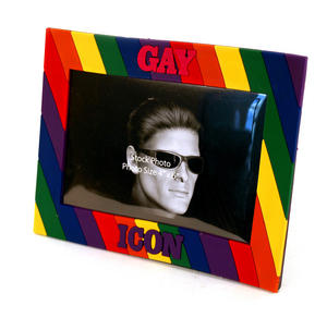 Gay Icon Rubber Picture Frame Thumbnail 1