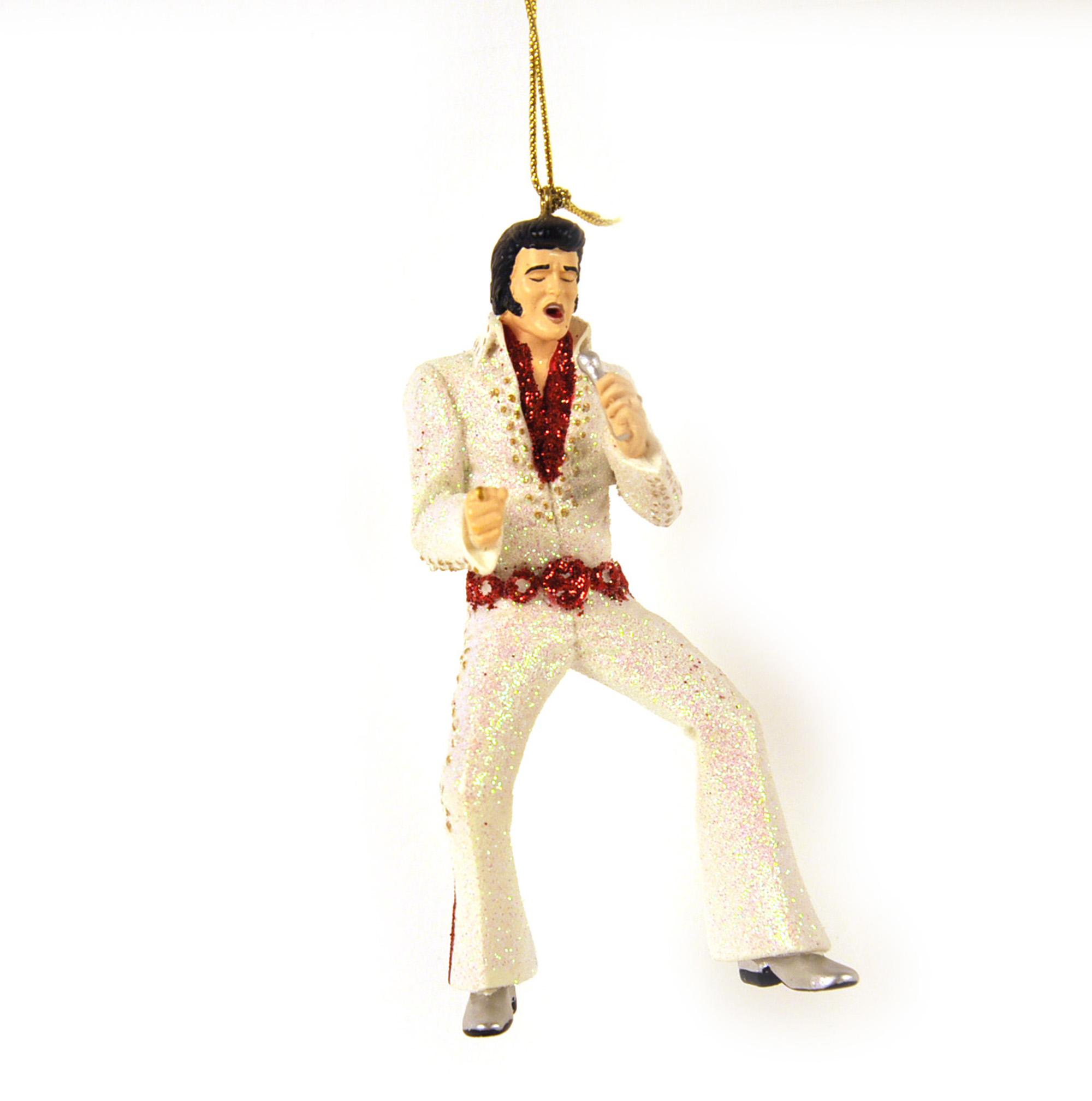 Elvis Presley Christmas Ornament   Pink Cat Shop