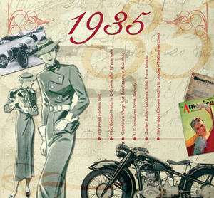 1935 The Classic Years 20 Track Cd Greetings Card
