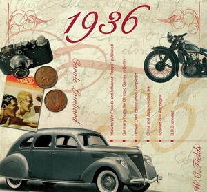 1936 The Classic Years 20 Track Cd Greetings Card