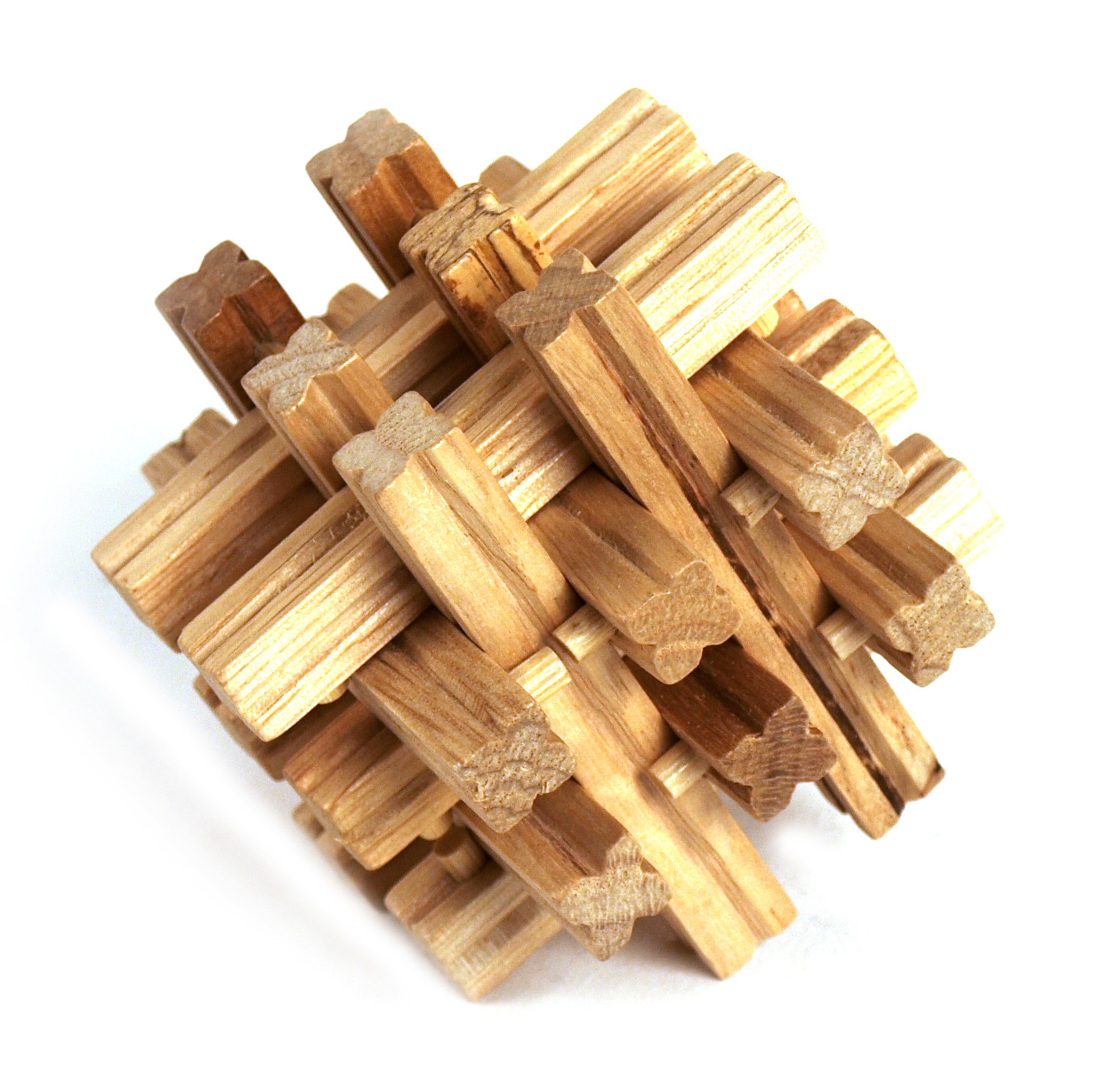 3D Wood Puzzle - Matrix Grid