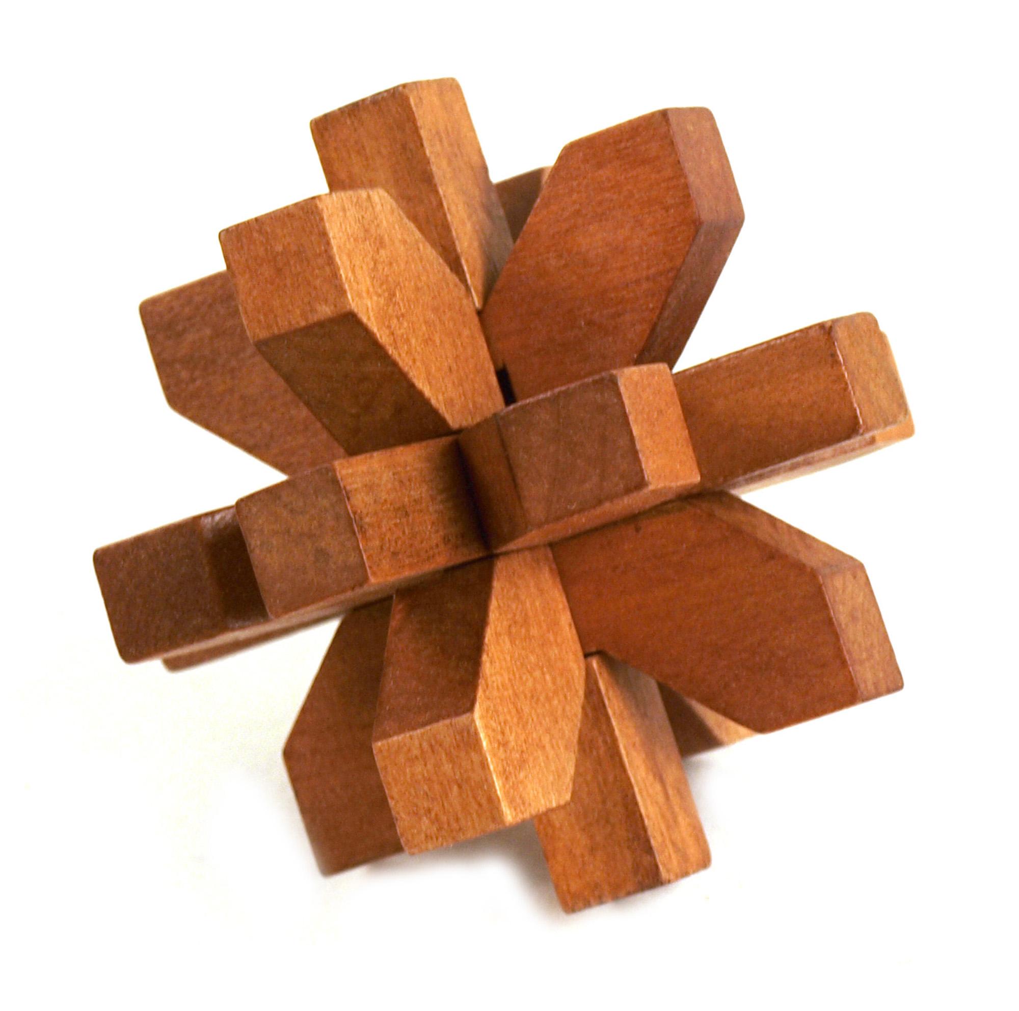 3D Wood Puzzle - Snowflake | Pink Cat Shop