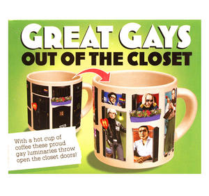 Great Gays - Out Of The Closet - Thermal Heat Change Mug Thumbnail 3