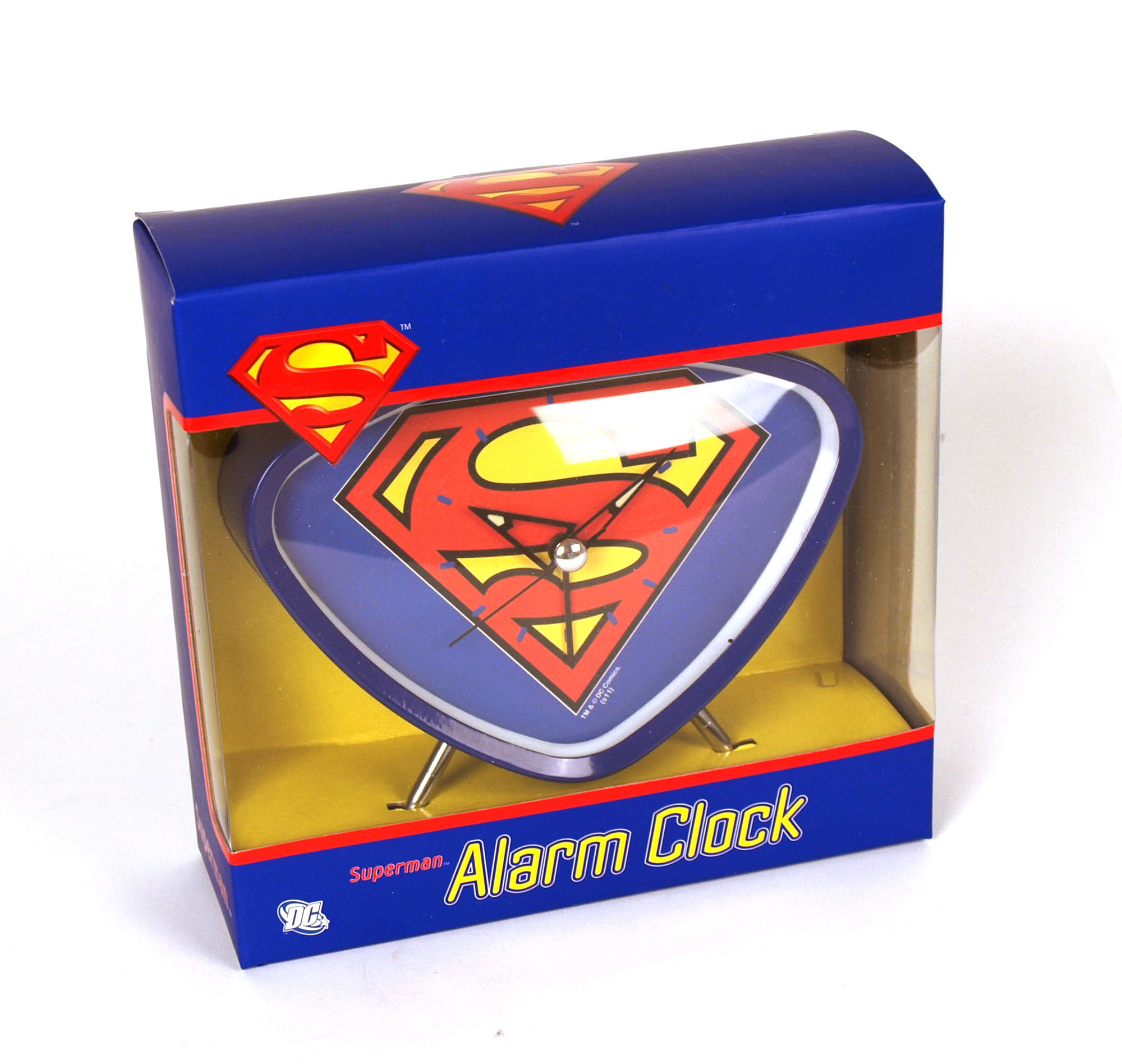 superman retro wecker ebay. Black Bedroom Furniture Sets. Home Design Ideas