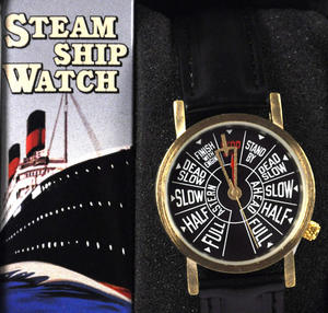 Steamship Watch - Retro Engine Room Telegraph Wristwatch Thumbnail 1