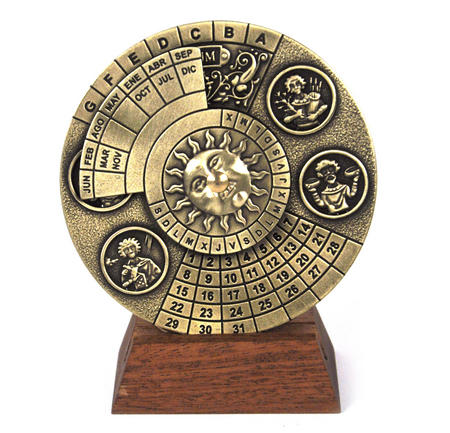 Perpetual Calendar - Hemispherium Antique Scientific Instument