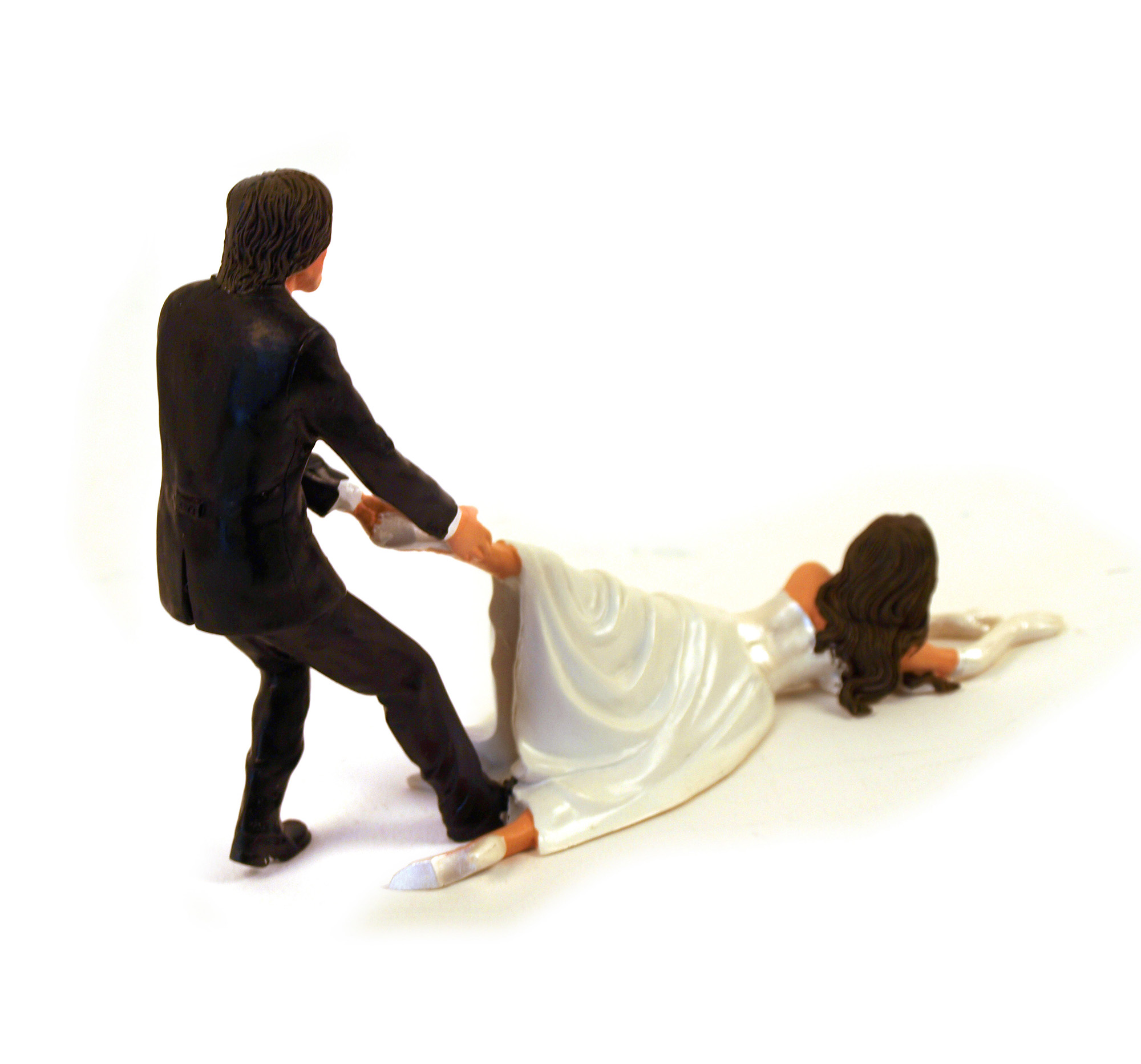 Reluctant Bride Cake Topper Wedding Bridal Groom New Funny