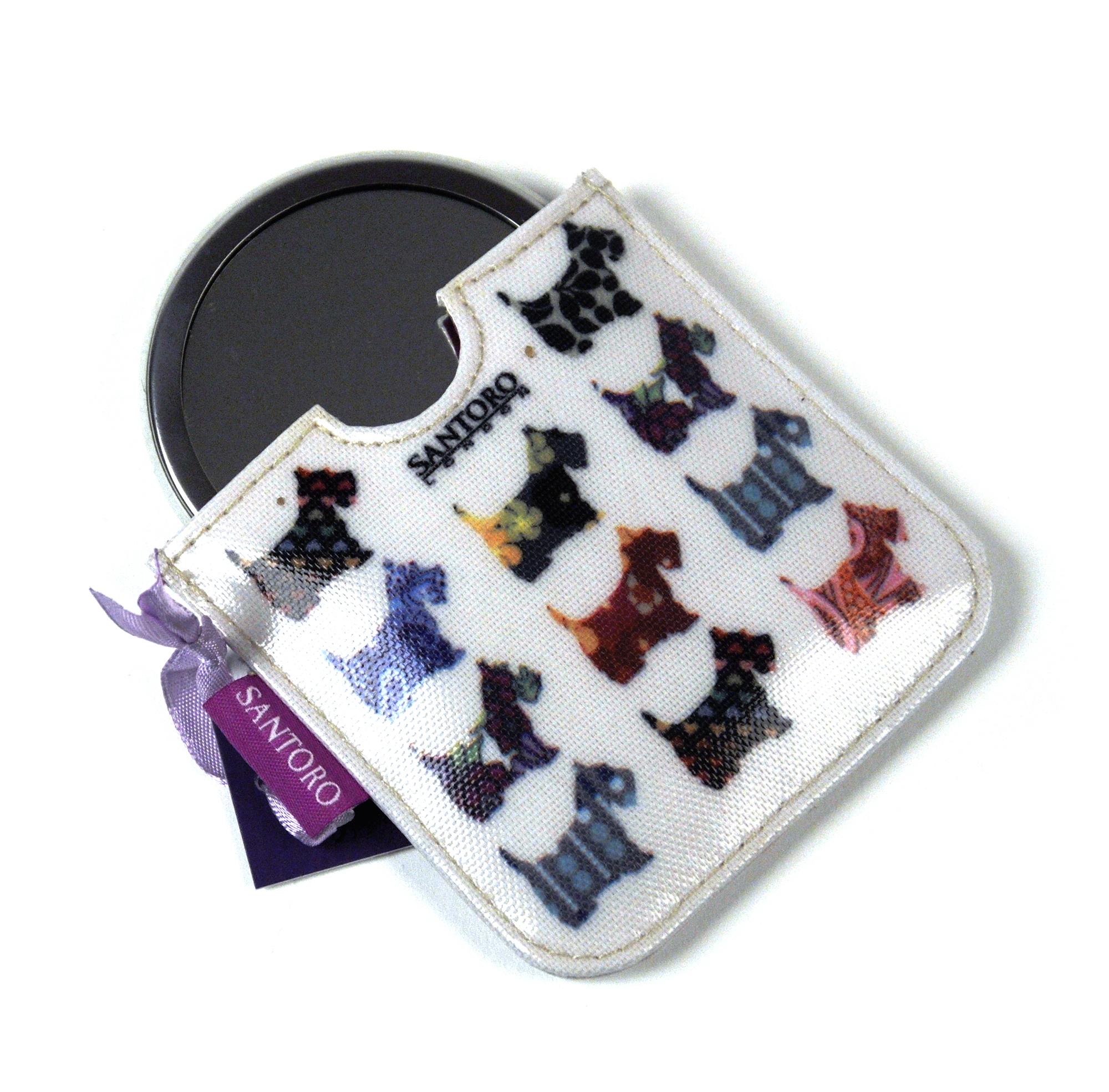 Scottie chiens compact poche miroir de sac main ebay for Miroir des chats