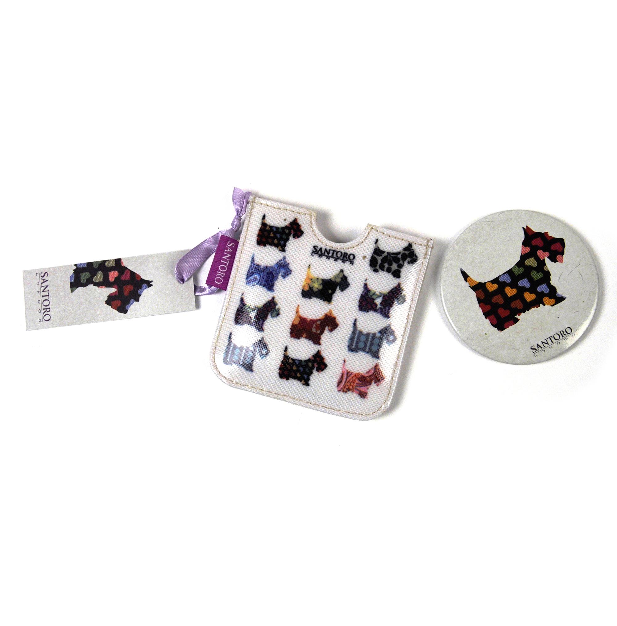 Scottie chiens compact poche miroir de sac main for Miroir de poche