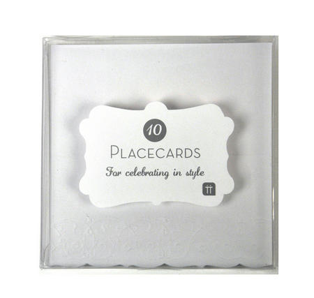 10 Deluxe White Placecards