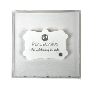 10 Deluxe White Placecards Thumbnail 1
