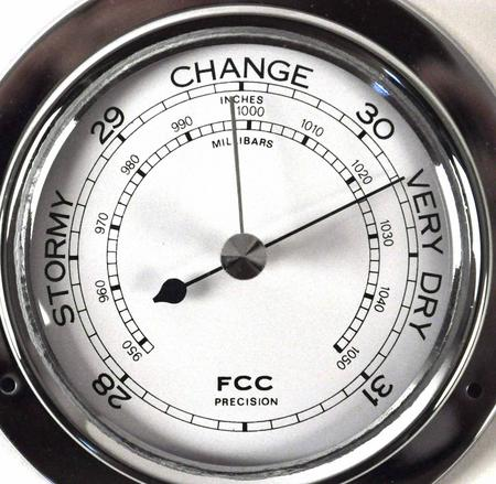 Classic Chrome Barometer 110Mm 1506Bch
