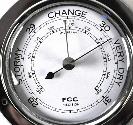 Classic Chrome Barometer 125Mm 1508Bch