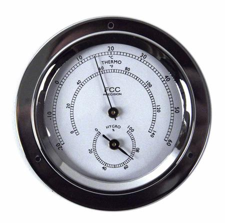 Classic Chrome Hygrometer / Thermometer 110Mm 1506Htch